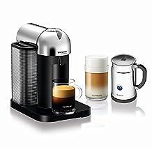 Nespresso VertuoLine Capsule Coffee Machine for Espresso or Lungo, with Aeroccino Plus Milk Frother - Chrome