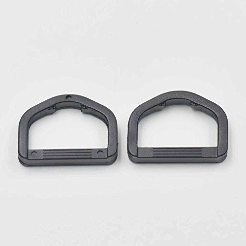 Plastic D Dee Ring For Ribbon Nylon Belt Webbing Buckles Strap Black ()