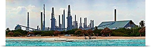 great-big-canvas-poster-print-entitled-oil-refinery-at-the-coast-valero-oil-refinery-baby-beach-arub