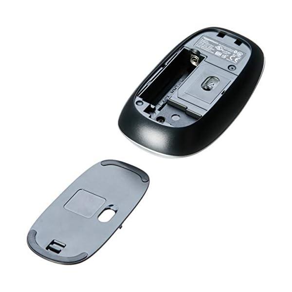 AmazonBasics Slim Wireless Bluetooth Mouse, Silver