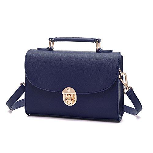Ladies paquete pequeño, versión coreana de la personalidad simple de la mochila de hombro hombro portátil ( Color : Vino rojo ) Azul zafiro