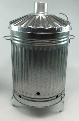 Anything4home - Incinerador de jardín, acero galvanizado, para todo tipo de basura: Amazon.es: Jardín