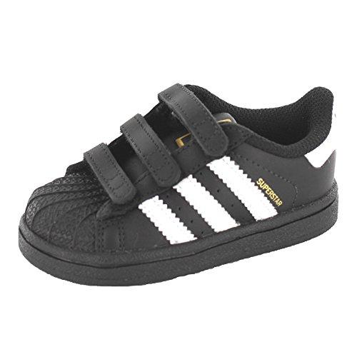 adidas Superstar Foundation Cf I, Zapatos de Primeros Pasos Bebé Negro / Blanco (Negbas / Ftwbla / Negbas)