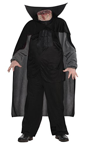 Amscan 845773 Bloody Headless Horseman Costume Adult Plus/Plus Size, Black -