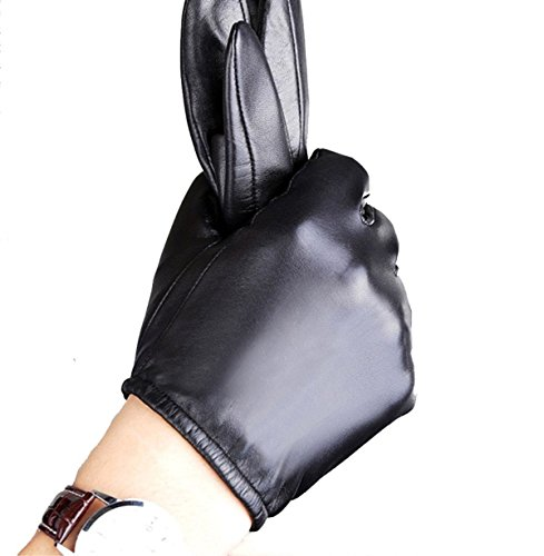 Aixi Men Women Touchscreen Genuine Leather Gloves Winter Warm Gloves for Driving Texting Motorcycle Cycling Lined Thin S