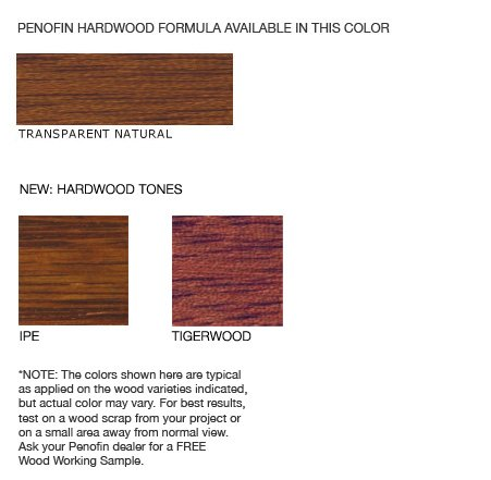 Penofin deep penetrating oil treatment for exotic hardwood - Exterior wood treatment products ...