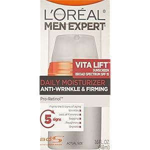 L'Oréal Paris Men's Expert VitaLift Anti Aging Face Moisturizer SPF 15, Wrinkle Cream, 1.6 fl. oz.