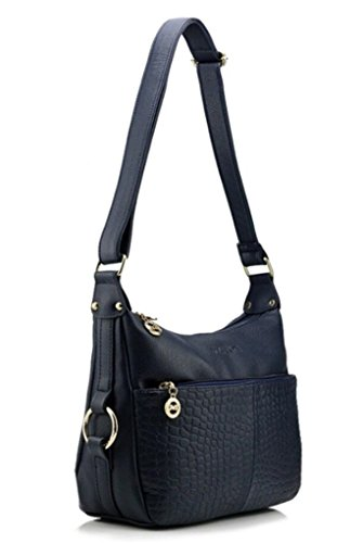PU for Navy body Bagtopia Cross Shoulder resistant Ladies Hobo Bags Water Leather Women's Small Casual Purses Crocodile gOqp8