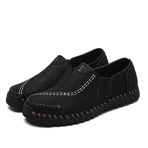 Trabajo Negro 2018 y Plano Amarillo Tacón Hombre Microfibra Tierra Casual de Spring C Cordones Zapatos con Fall Plano Confort Caminar Oficina HUAN Caqui 74STqwn