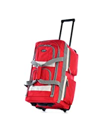 Olympia 26-Inch 8 Pocket Rolling Duffel Bag, Red, One Size