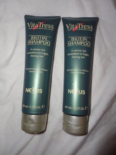 VitaTress Biotin Shampoo 3.3oz (Set of 2) by Nexxus (Vitatress Biotin)