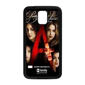 Bastante caja del teléfono celular pequeño A3Q4Eu Funda Samsung Galaxy S5 funda Negro V1D8RZ caja del teléfono Funda duro del diseño
