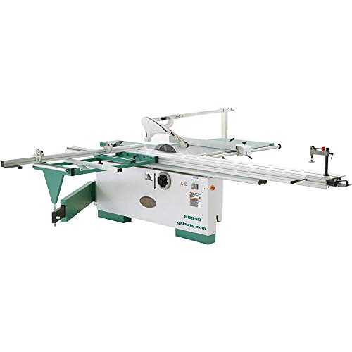 Grizzly Industrial G0699-12″ 7-1/2 HP 3-Phase Sliding Table Saw with Scoring Blade Motor
