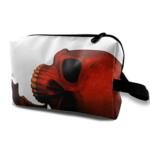 Cool Halloween Skull Red Death Devil Multi-function Travel Makeup Toiletry Coin Bag Case ()