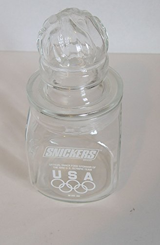 - Souvenir 1992 Barcelona Olympics Snickers Glass Candy Jar