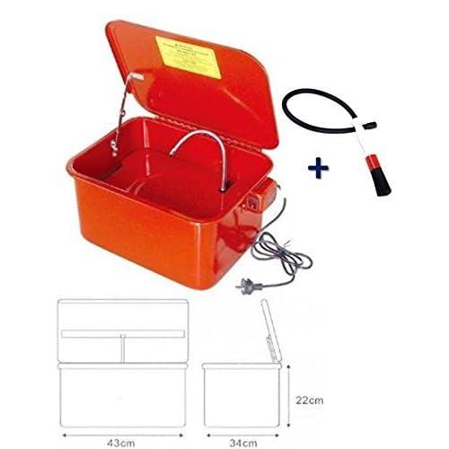 chic Fontaine de Nettoyage Lavage 13,5L litres 3,5 gal Pieces Mecaniques avec Pinceau Brosse
