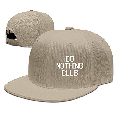 MaNeg Do Nothing Club Unisex Fashion Cool Adjustable Snapback Baseball Cap Hat One Size Natural