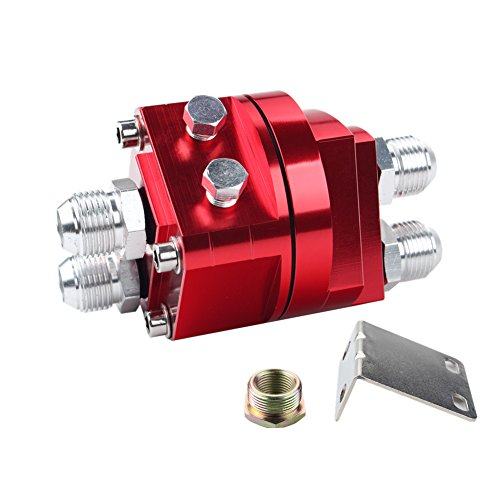 (Dewhel OIL Filter Relocation Male Sandwich Fitting Adapter Kit 3/4x16 20x1.5(red))