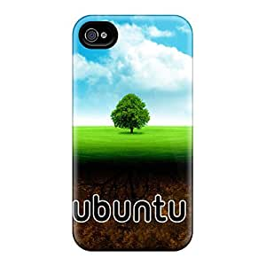 Durable Ubuntu Back Case/cover For Iphone 4/4s
