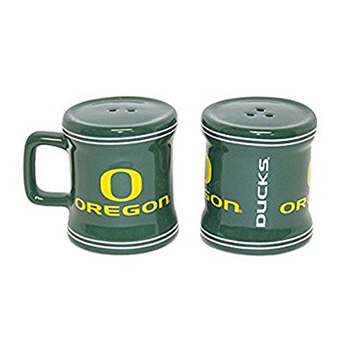 NCAA Licensed Mini Mug Salt and Pepper Shakers (Oregon Ducks)