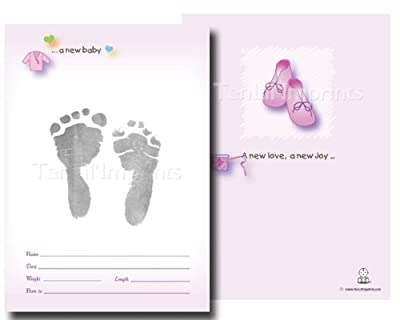 Tenlilimprints Birth Announcement Kit Pinkblack from TenLil'Imprints