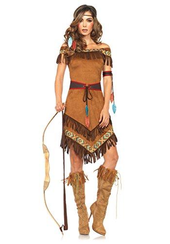 Leg Avenue Women's Native Princess, Brown,