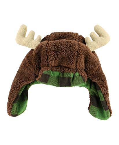 Moose Critter Cap Hats For Kids And Adults by LazyOne | Fun Costume Winter Bear Moose Buffalo Beanie Hats (LARGE)