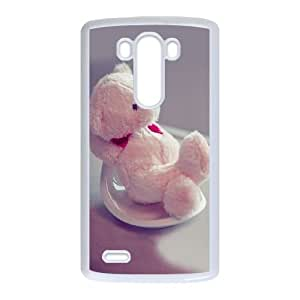 LG G3 Cell Phone Case White Furry Teddy LV7055205
