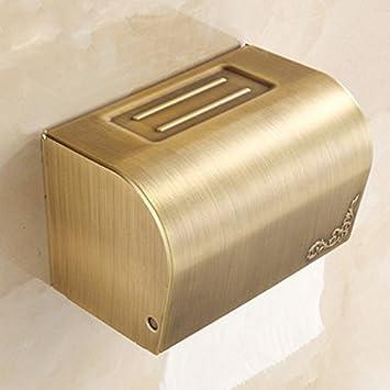 HTYQ Caja De Papel Continental Antigua Cisterna Baños De Acero Inoxidable Bandeja De Papel De La