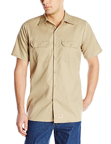 Red Kap Men's Utility Uniform Shirt, Khaki,