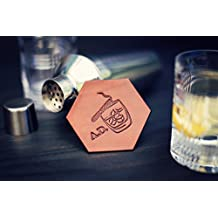 Personalized Leather Coaster, Custom Coaster, Handmade housewarming wedding anniversary Drinking Gift groomsman Bar Mats, whisky cigar