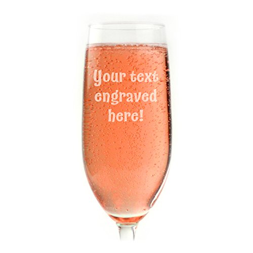 Personalized Champagne Flute Engraved with Your Custom Text