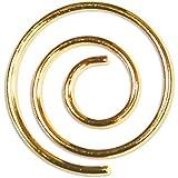 LCI Spiral Paper Clips Shiny Gold