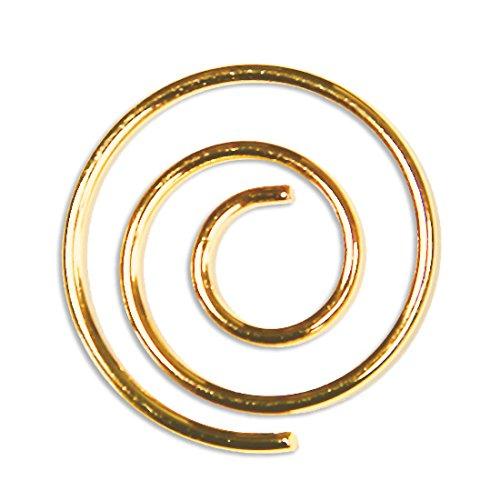 Spiral Paper Clip - LCI Spiral Paper Clips Shiny Gold