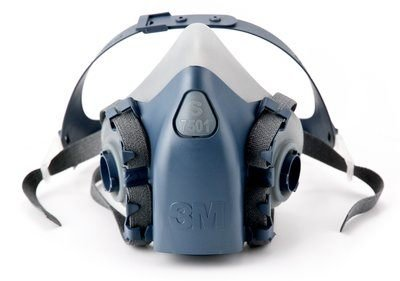 3M 7502 Masque respiratoire en silicone Demi visage Ré utilisable Taille M