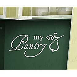 Wall Decal Letters My Pantry-Kitchen Dining Room Home-Adhesive Vinyl Art Letters Quote Decal Large Wall Saying Sticker Bedroom Decor