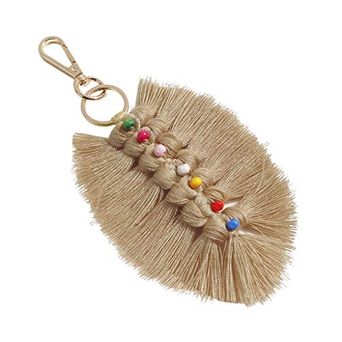 (Handmade Bohemian Tassel Keychain Tassels Bag Key Chain Charm Handbags Pendant Key Chain Rings)