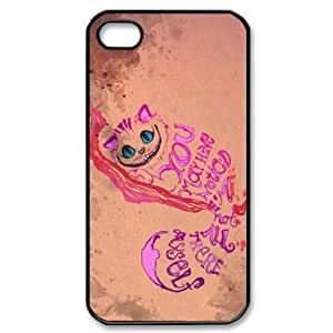 Custom Hard Alice in Wonderland iPhone 4 / 4S Cover, Snap On Alice in Wonderland iPhone 4 / 4S