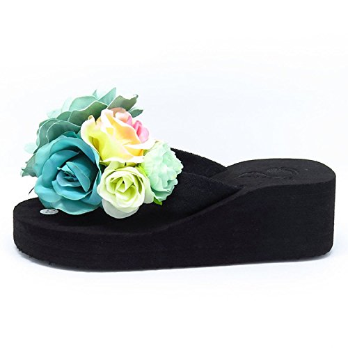 Jelly Flip Shoes Color Sandalswedge Beach Fashion Flops Platform Women Thytas 5 8ngxqFC