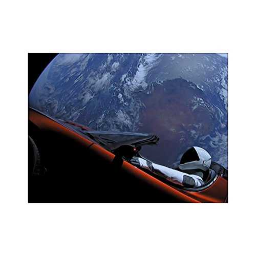 Shop Shop Usa Spacex Starman In Orbit Around The Earth Poster