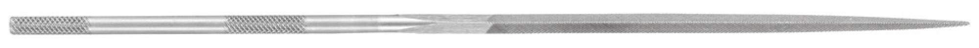 PFERD 12009 6-1/4'' Three Square Needle File Knurled Handle, Cut 0 (12pk)