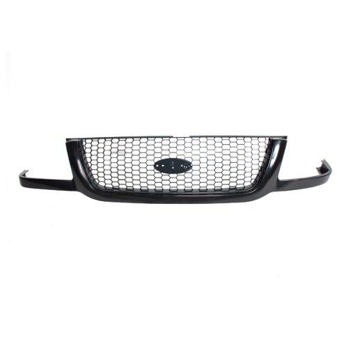 - CarPartsDepot, Unpainted Front Plastic Grille Dark Grey Mesh Insert, 400-18140 FO1200395 3L5Z8200BA