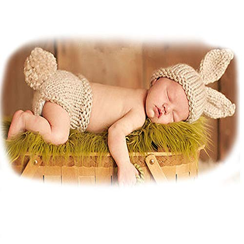 ISOCUTE Newborn Photography Props Baby Boy Girl Knit Bunny Rabbit Photo Picture Outfits