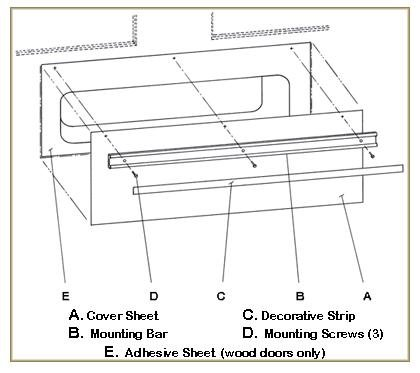 Magnetic Mail Slot Cover - PEWTER (Silver) by Battic Door (Image #3)