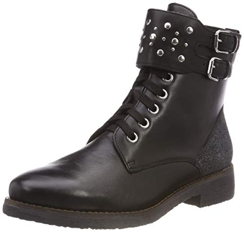 9 019 Caprice Comb 19 25205 Women's Black 21 9 Black Combat Boots 5XHwSHq1