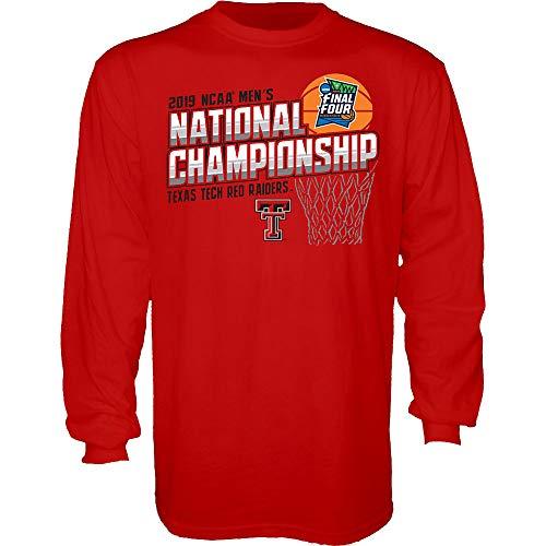 Elite Fan Shop Texas Tech Red Raiders National Basketball Championship Long Sleeve Tshirt 2019 - L - Scarlet