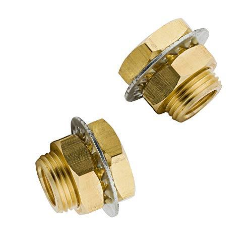 Legines Brass Bulkhead Fitting, 1/4