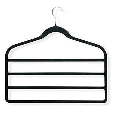 Honey-Can-Do HNGT01340 Black Velvet Touch 4-Step Hanger Black, 4-Pack