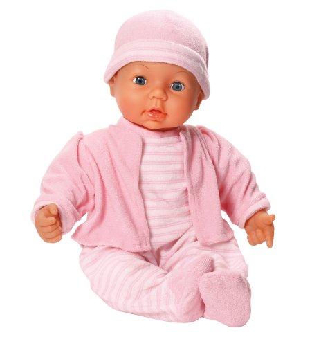 Bayer Design 94678 - Funktionspuppe Dream Baby mit Schlafaugen und verschiedenen Babylauten, 46 cm