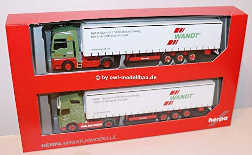 Herpa Set with Two Models - 80th Anniversary Spedition Wandt. 1 87